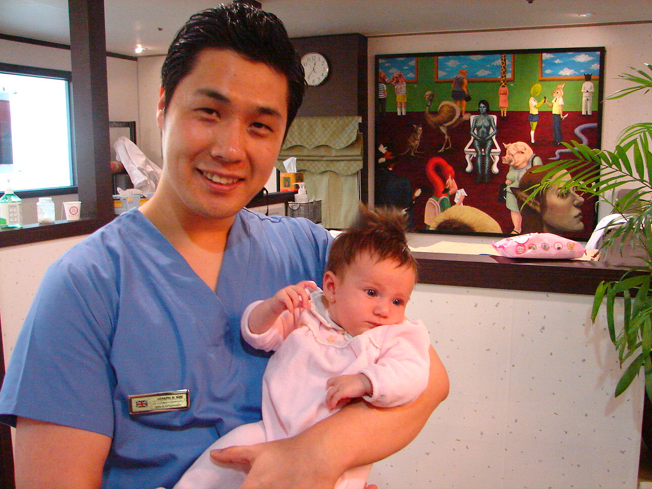 dr joseph osteopath with baby